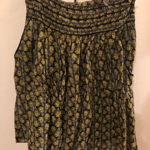 Anthropologie / dil butterfly print skirt size 6